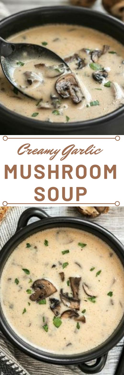 CREAMY GARLIC MUSHROOM SOUP #diet #soup #mushroom #garlic #creamy