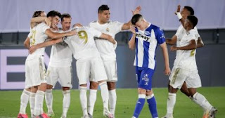 ريال مدريد الأسطورة يعتلي قمة الليجا بعد مواجهتة مع ألافيس في الدوري الاسباني