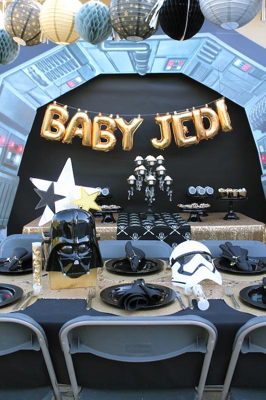 Little Jedi Baby Shower| Star Wars Party Ideas - LAURA'S ...