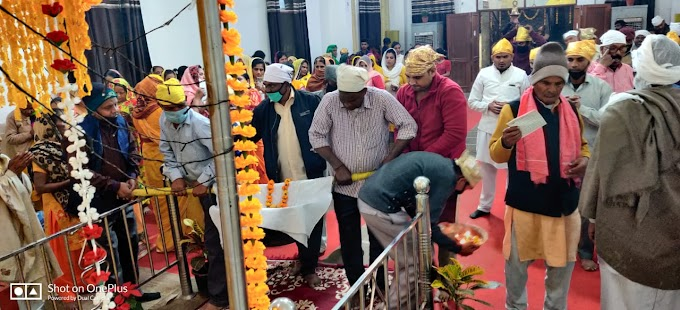 स्वामी शिव नारायण गुरुद्वारे में धूमधाम से मनाया गया वसन्त पंचमी उत्सव-बन्सी लाल
