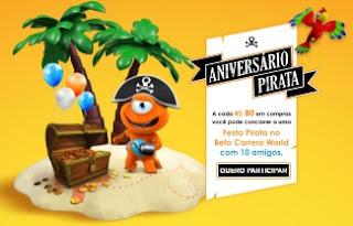 Cadastrar Promoção PBKids 2017 Aniversário Pirata Beto Carrero