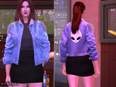 Denim Jacket (With and Without Spikes)