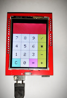 Arduino based touch screen calculator