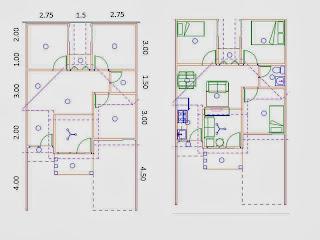 desain rumah mungil tipe 54