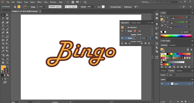 Multiple Strokes in Adobe Illustrator