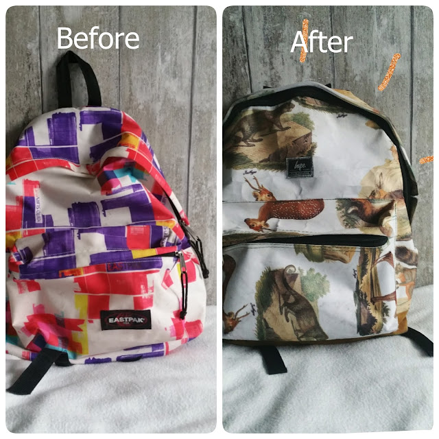 bag before and after