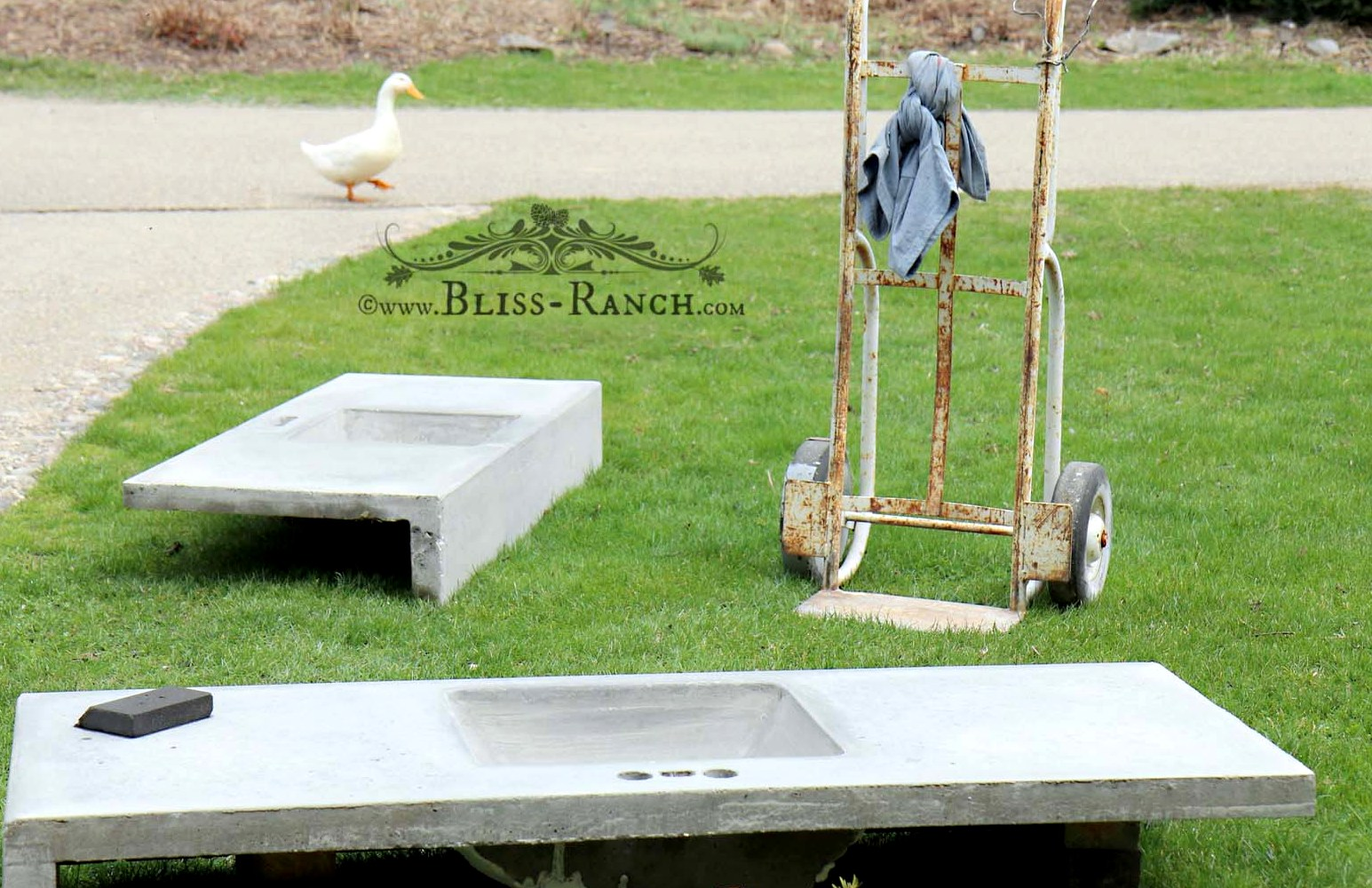 Bliss Ranch Concrete Sinks In A Slurry