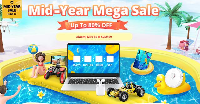 Mega Promoção MID-YEAR na Gearbest