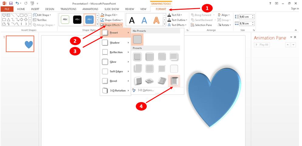 Membuat animasi bergerak di PowerPoint