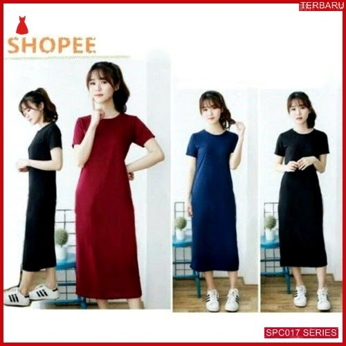 SCP017D33 Dress Elsa Maxi Plain Dress Wanita | BMGShop