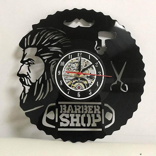 Reloj de pared de 30 cm de barber shop