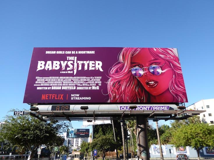 Babysitter Netflix movie billboard
