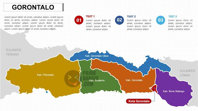Peta Provinsi Gorontalo Powerpoint