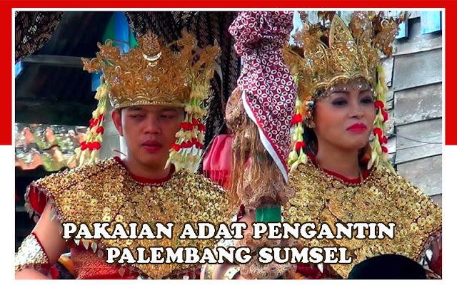 Gambar Pakaian adat pengantin Palembang, Sumatra Selatan