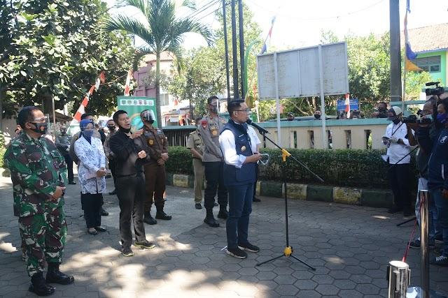 Datangi Puskesmas Garuda, Pangdam III/Slw  Jadi Relawan Uji Klinis Vaksin Covid-19