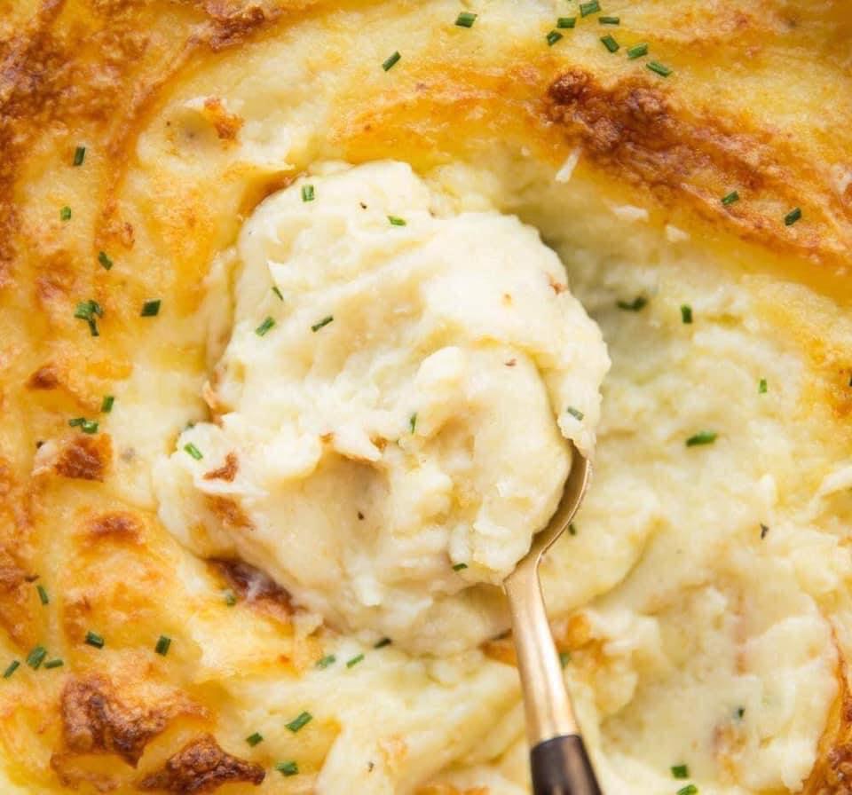 بطاطس مهروسة بالجبنة