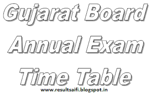 Gujarat Board Time Table 2017 GSEB Date Sheet for HSC/SSC