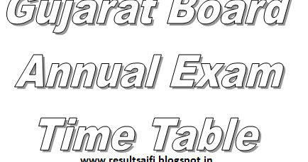 Gujarat Board Time Table 2014 GSEB Date Sheet for HSC/SSC