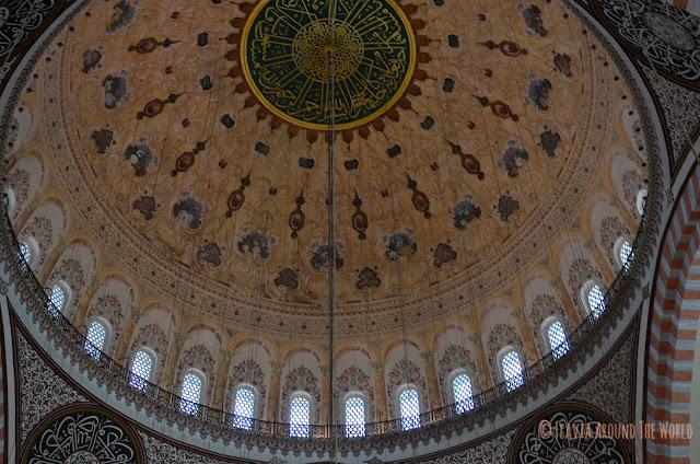 Interior de la mezquita de Süleymaniye, Estambul
