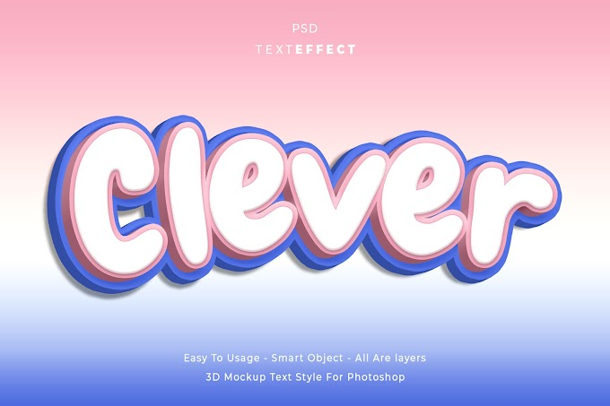 Clever Text Effect PSD