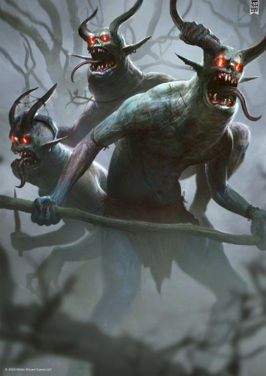 Eryk Szczygieł artstation deviantart ilustrações sombrias fantasia terror games