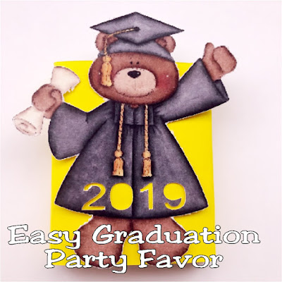 "Whether you need a graduation gift for your student to give to their fellow classmates, or a quick and easy graduation party favor, this cute bear screams ""great job!"" and is the perfect answer to your graduation party needs."