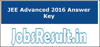 JEE Advanced 2016 Answer Key