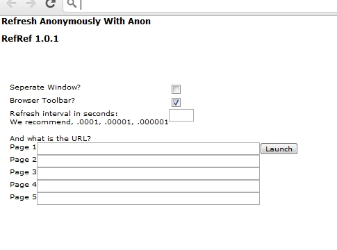 RefRef - Denial of Service ( DDoS ) Tool Developed by Anonymous