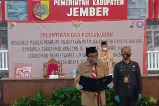 Wabup Muqit Lantik Majelis Pembimbing Pramuka Kwartir Ranting dan LPK di 11 Kecamatan