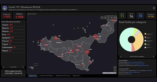 Monitoraggio e mappatura dinamica dei contagi da COVID-19 in Sicilia