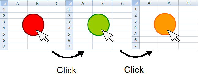 Do My Excel Blog: How to change a shape color in Excel using a VBA macro