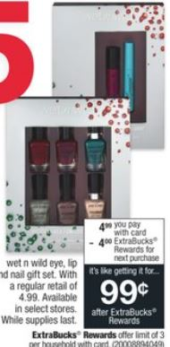 Wet n Wild Eye, Lip or Nail Sets