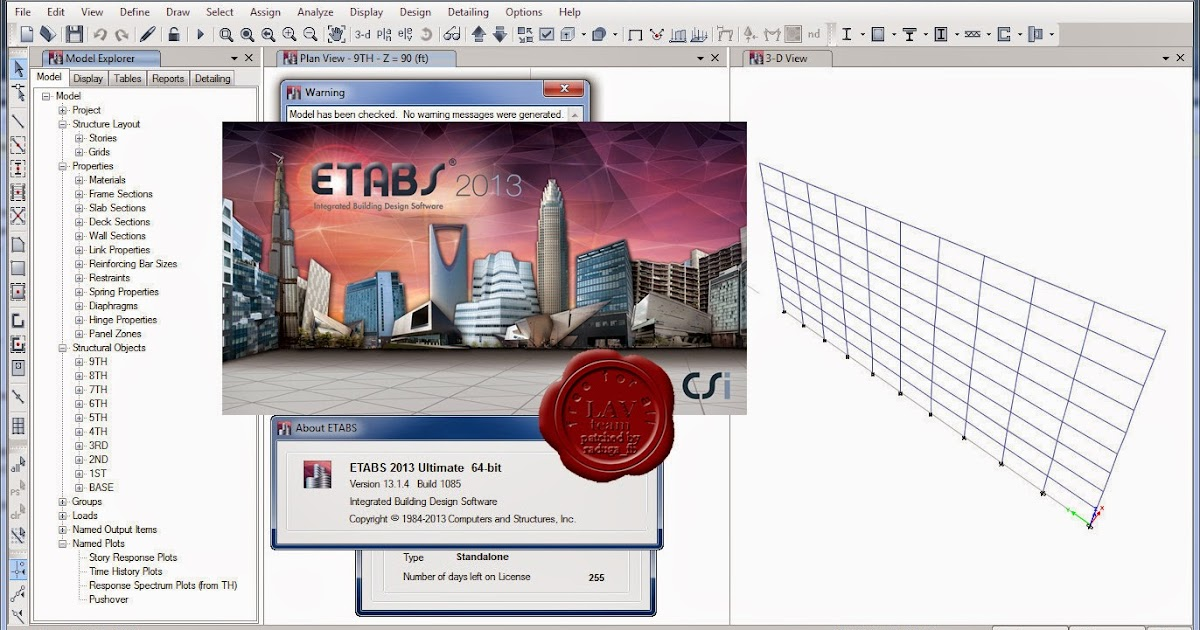 Download CSI ETABS 2013 v13 2 2 1170 x86 x64   Civil