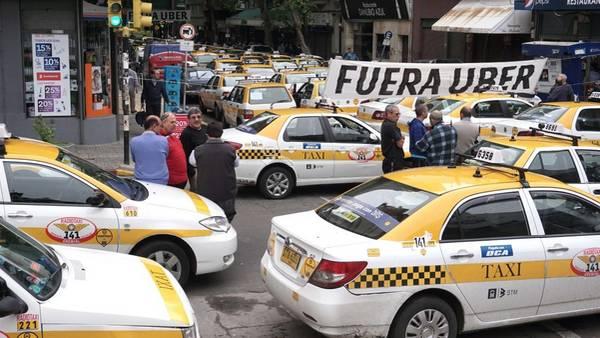 taxistas en contra de uber