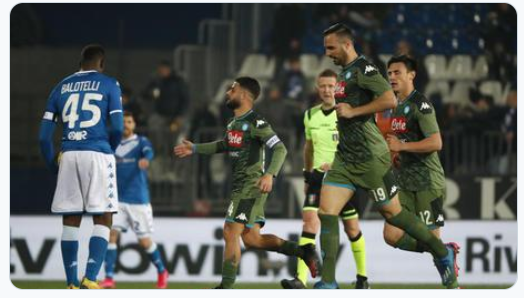 الدوري الإيطالي: نابولي يقلب الطاولة على بريشيا بـ1ـ2 قبيل مواجهة برشلونة