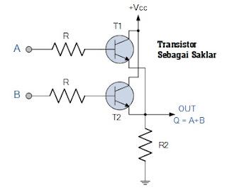 Rangkaian Transistor Gerbang OR