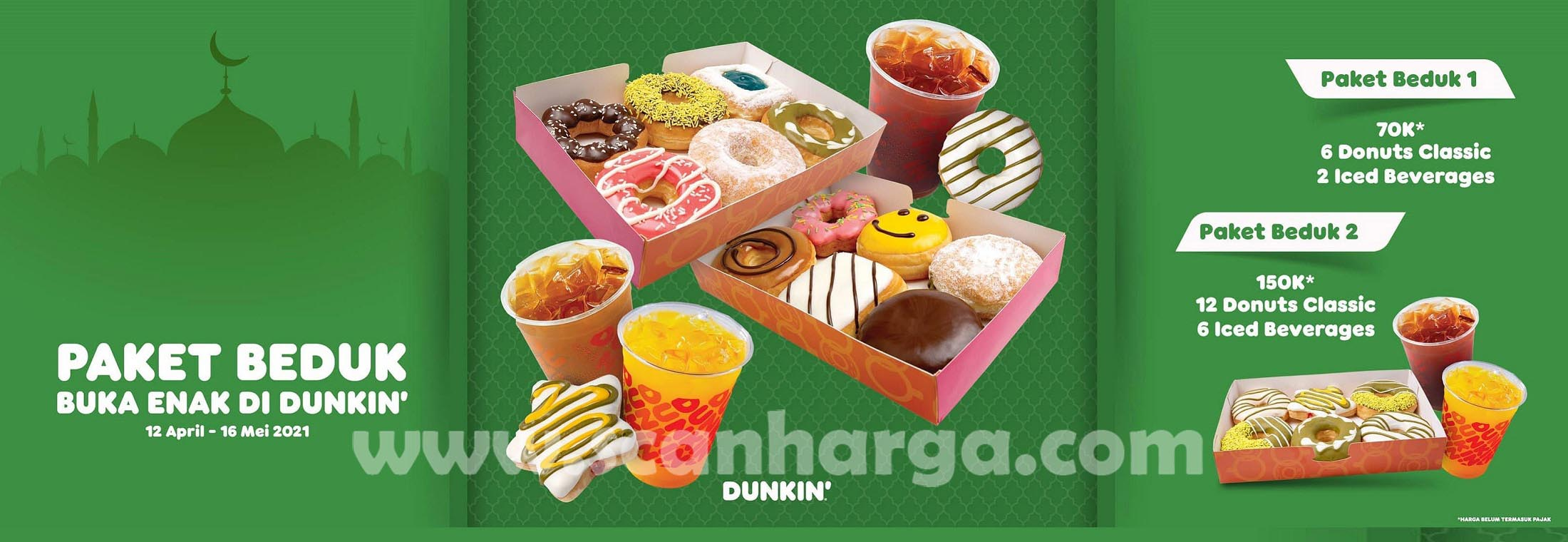 Promo Dunkin Donuts Terbaru 12 April - 16 Mei 2021