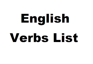 Very Useful English Verbs list