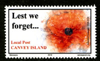 Canvey Local Post WWI Armistice Centenary Stamp