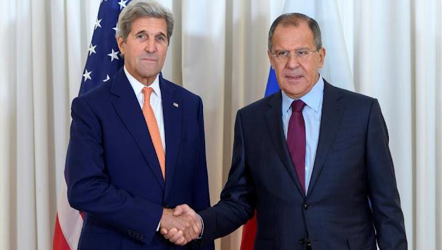 """Lavrov e Kerry estão de acordo com essas conversações para """"criar as condições de uma solução para a crise síria junto a países-chave da região"""", segundo um comunicado oficial russo"""