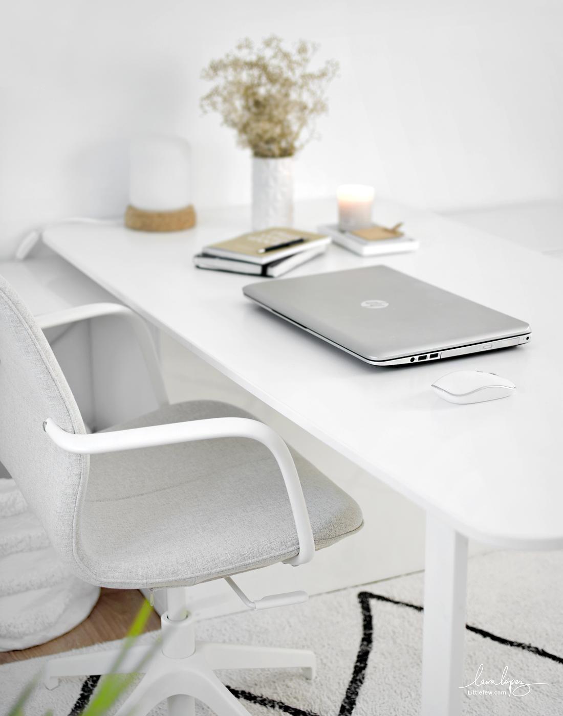 WORK AT HOME WITH STYLE: NEW IKEA WHITE CHAIR  /  Trabaja en casa con estilo: nueva silla de oficina blanca (IKEA)
