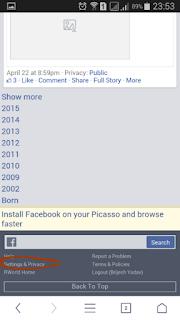 Kaise pata kare apna facebook kab kaha aur kis browser me for Decoration kaise kare