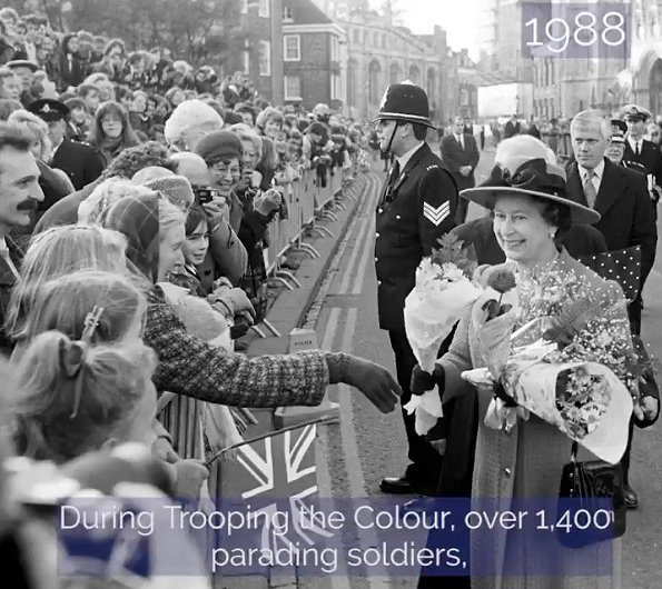 Buckingham Palace shared a slide of the Queen. The Queen's life, from an image of her as a baby in 1926