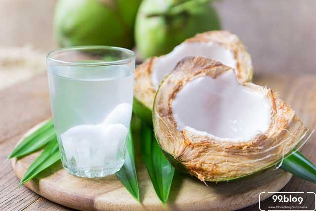 Obat biduran dengan air kelapa