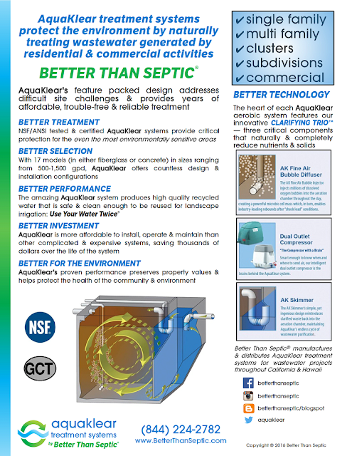 AquaKlear treatment is Better Than Septic