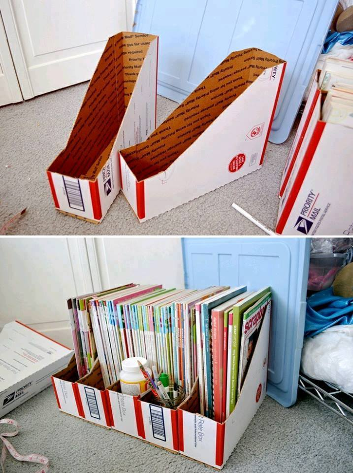 Muebles y organizadores hechos con cart n reciclado for Mueble fichero