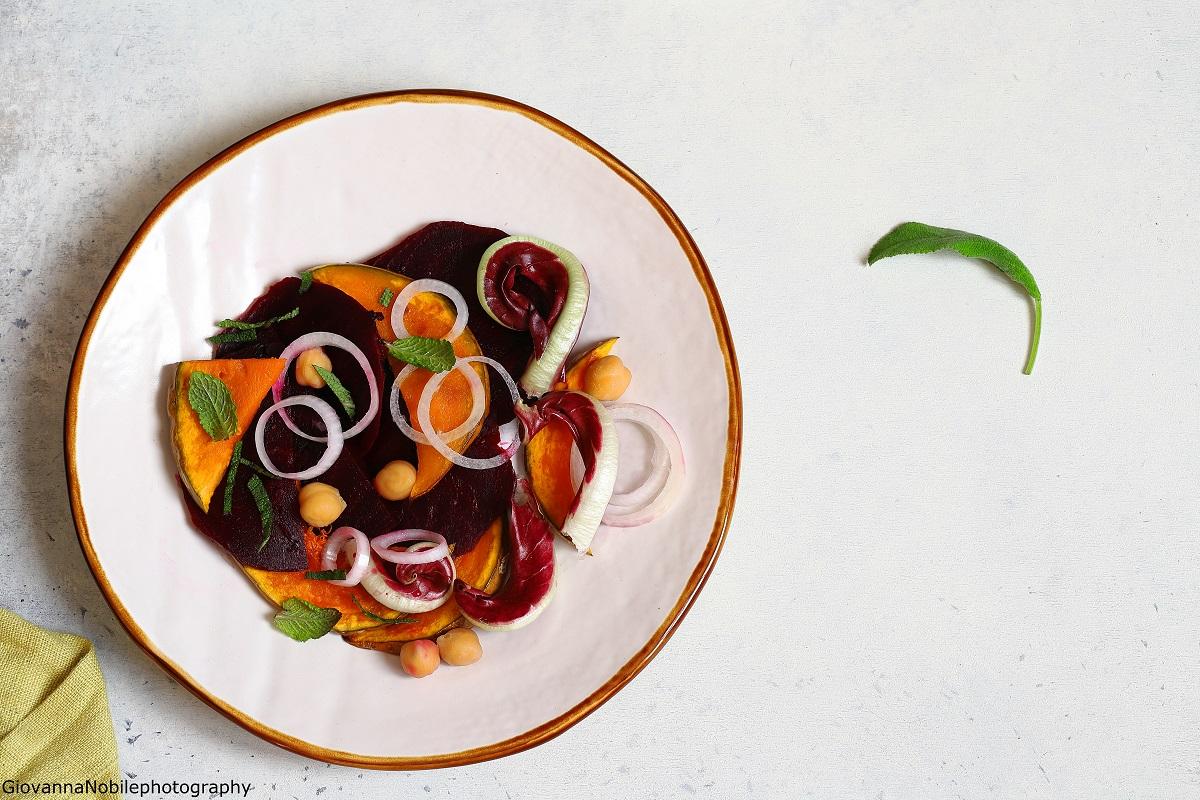 Barbabietole, zucca e ceci, goloso e healthy