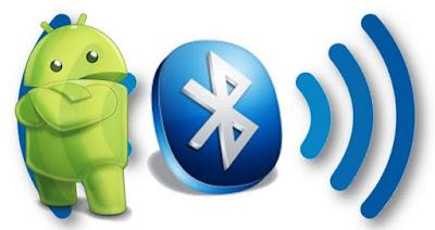 Seher Apliakasi di Android melalui Bluetooth