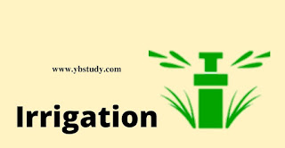 What is irrigation