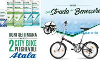 """Concorso Rinazina """"Sulla strada del benessere"""" : vinci 44 biciclette Atala Urban Bike pieghevoli ( 229 euro)"""